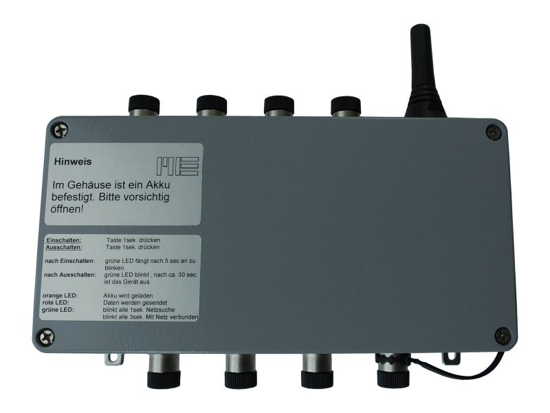 8-channel datalogger for straingage sensors with gprs modem