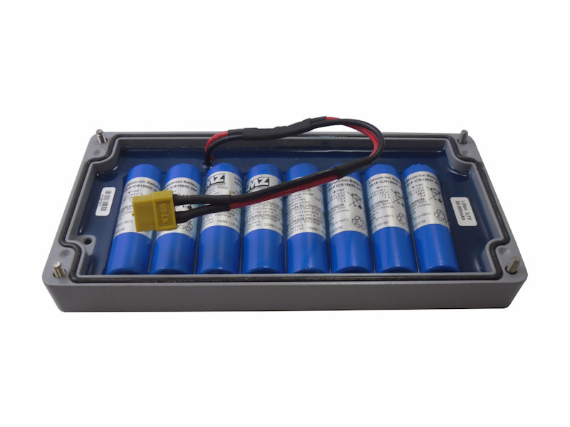 integrated li-ion battery pack of GSV-4GPRS datalogger
